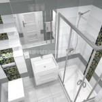 Projekt łazienki wykonany przez firmę Aqarius