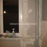 Już oklejona zewnętrzna ściana płytą gipsowo-kartonową